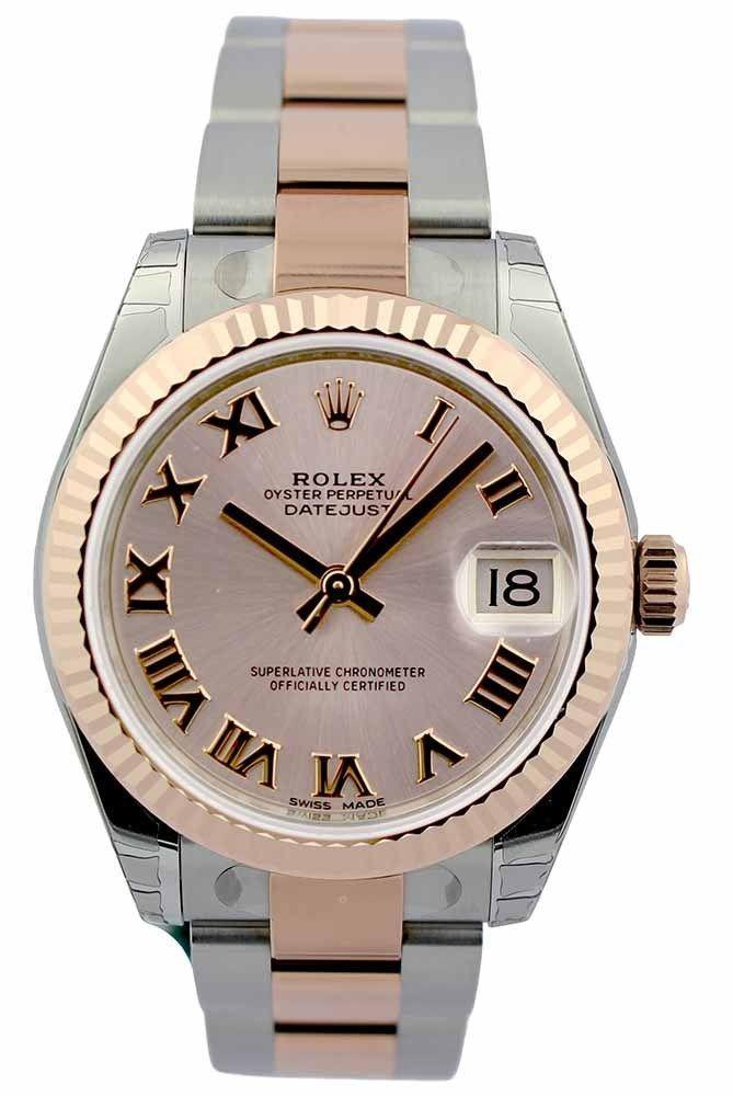0f5d89988de Rolex DateJust 31 Pink Dial Oyster Perpetual Auto Women Watch 178271 New  Orig #Rolex #Luxury