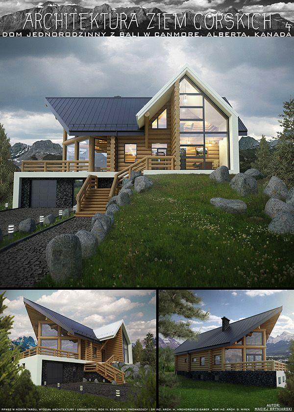 Log Home on Behance