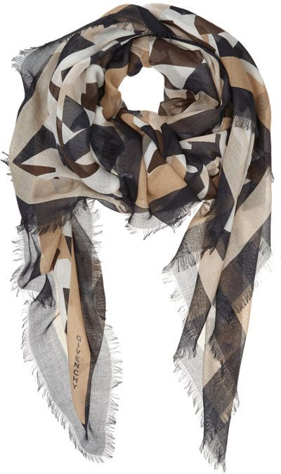 ACCESSORIES:: SCARVES ~~ Fabulous geo print camo scarf Givenchy @Matty Chuah Zhush