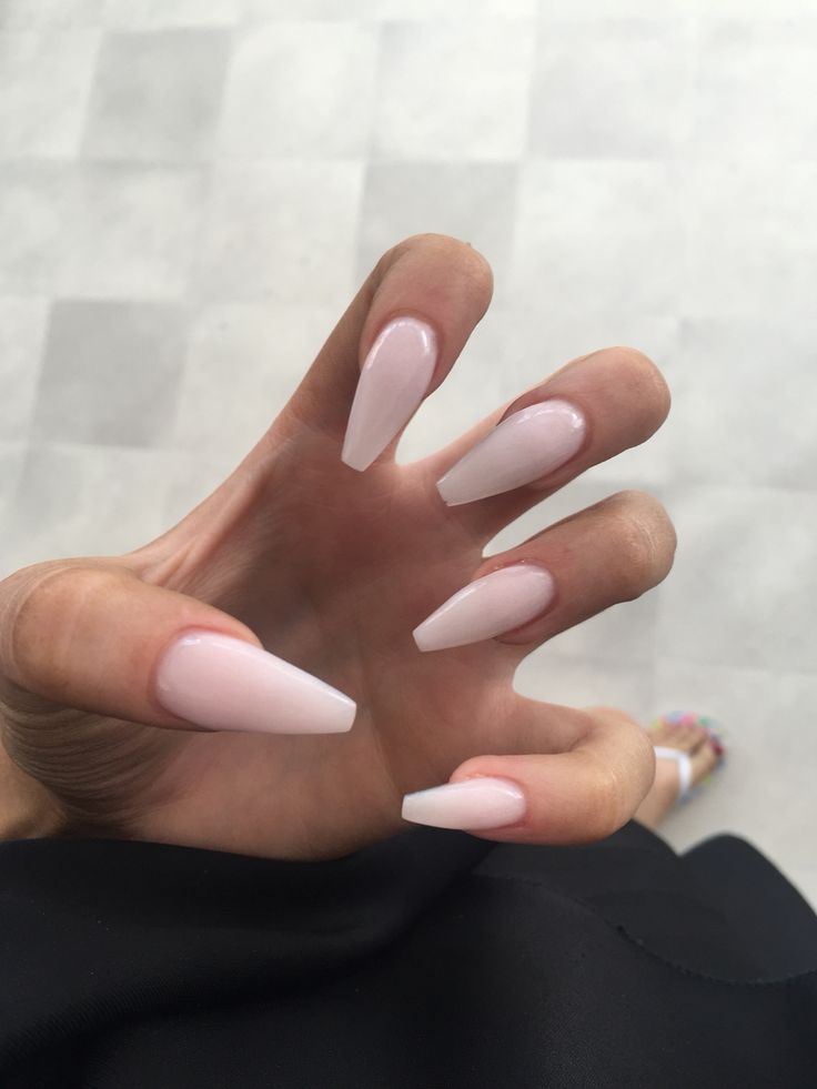 Prom // natural ballerina nails