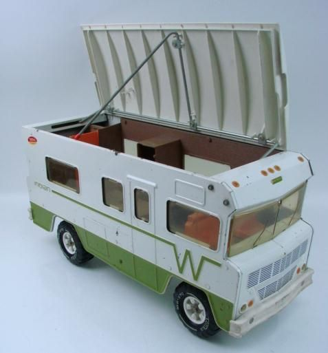 One of my favorite toys!!!  1970's Tonka Truck VW RV Indian WINNEBAGO Camper Motorhome