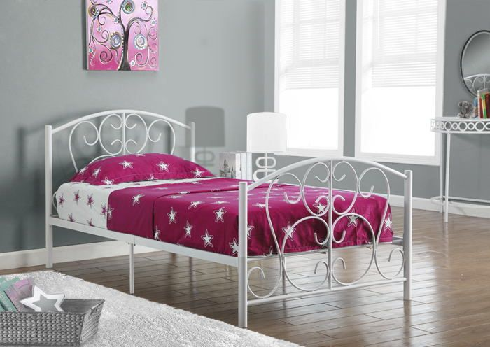 white metal twin size bed frame only this white metal twin bed will be a - Metal Twin Bed Frame