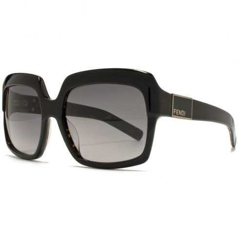 Fendi Square Heavy Top Sunglasses Black FS5148 001 57 are a glamorous, oversized Shiny Black frame sunglass featuring an enamel Fendi motif on the temple and Tortoiseshell on the inside of the frame. Frame Colour - Black TortoiseshellLens Colour - Grey GradientLens Size - 57mmFilter Category - 2Total UV ProtectionNew and unworn in boxRetail $485Seen on celebrities such as Jennifer GarnerThe Fendi fashion house was established back in 1925 by Edoardo and A...