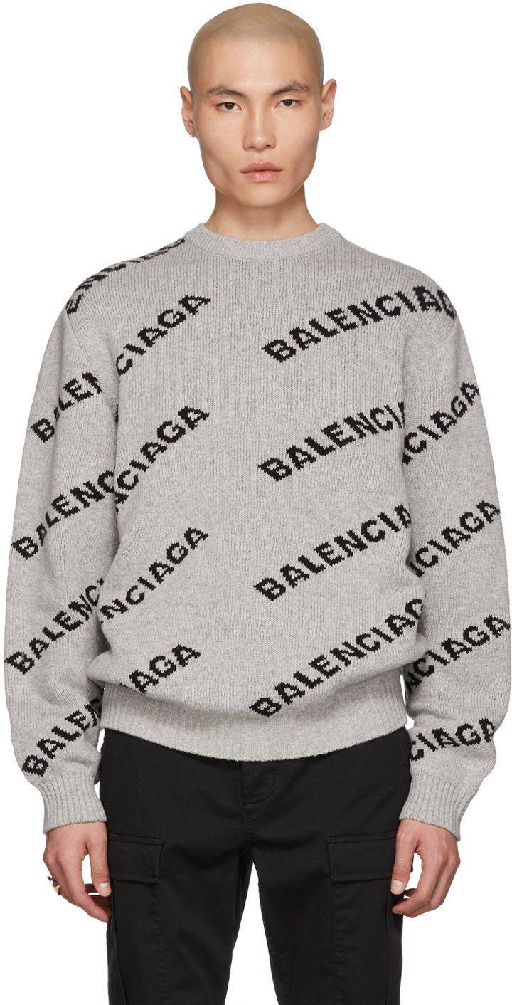 BALENCIAGA-sweaters-Grey \u0026 Black