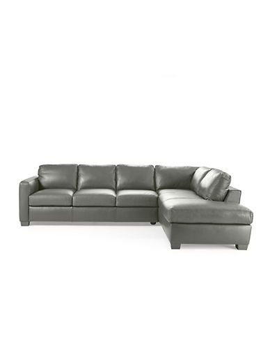 natuzzi editions amalfi leather sectional sofa with chaise living rh pinterest com