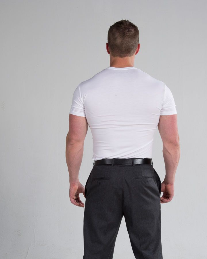 There is no standard size for undershirts. This means that to find a undershirt, you must know your body size. Perfect undershirts are best fitting undershirts. They do not create a lumpy or misshapen look when worn under the dress shirt. Read here for more details : https://www.youtube.com/watch?v=K1WIBLfQN8c