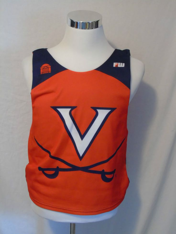 UVA Virginia Basketball Practice Used Jersey Cavaliers Wahoos Reversible S/M
