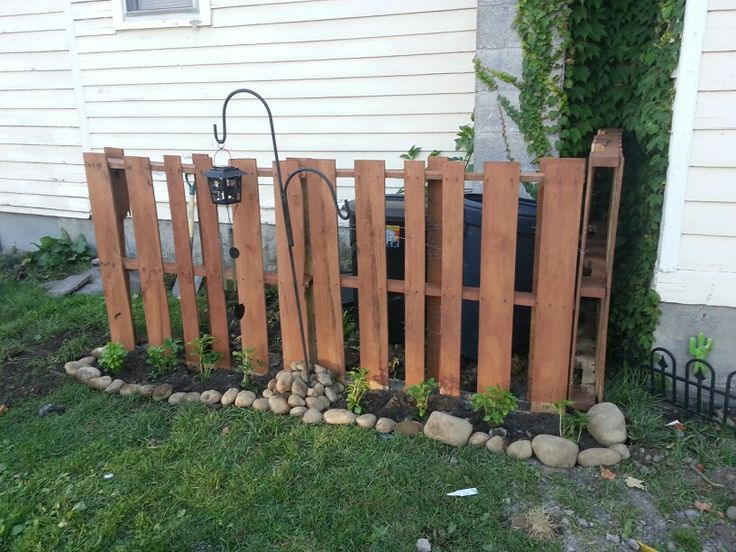 Best images about garbage can fences on pinterest