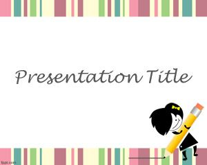Learning Games PowerPoint Template is a simple PPT template with white background that can be used for teaching purposes