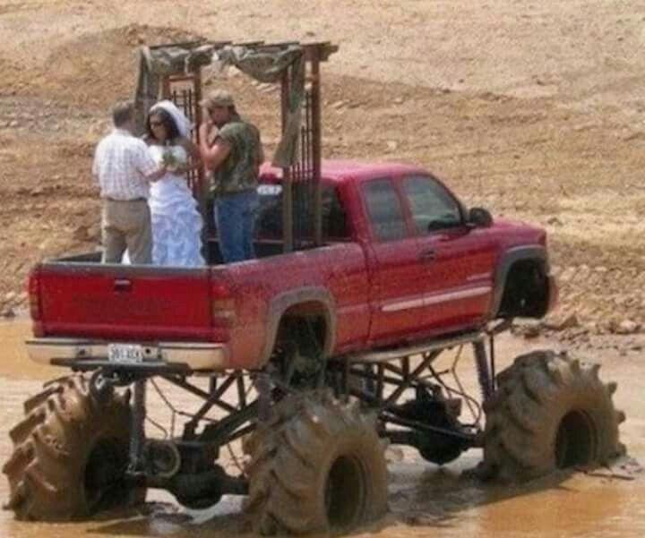 Redneck wedding...