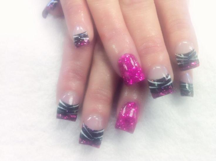 Pink Zebra acrylic nail artHair Beautyful Nails, Pink Zebra, Nails Design, Acrylics Nails, Hair Nails Makeup, Acrylic Nails, Nails Nails Nails, Nails Ideas, Nails Art I