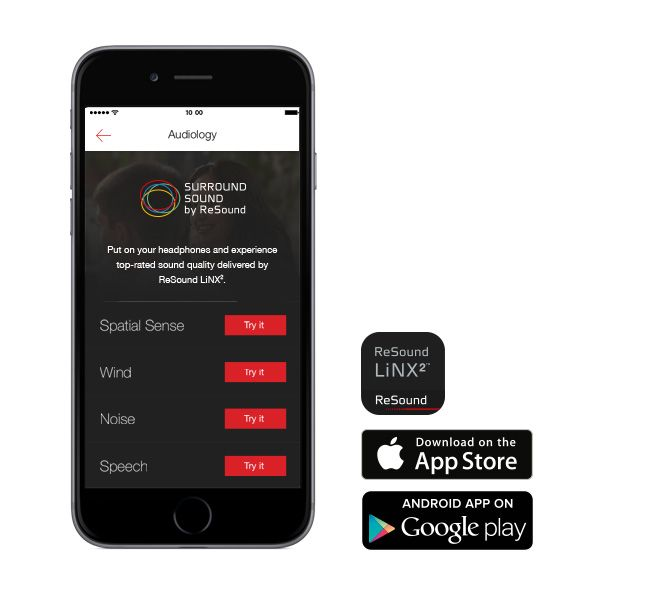 ReSound LiNX2 app!  Listen to sound demos and learn about key features of ReSound LiNX2 with this app.