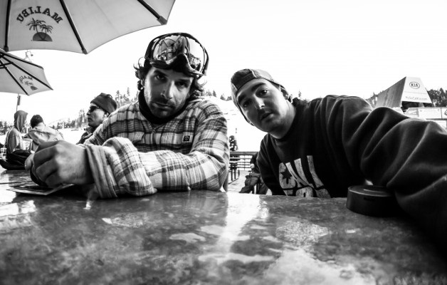 Alberto Ferri and Ema Giga in #bearmountain #california #snowboard
