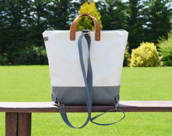 Handmade Waterproof Canvas Backpack - Ivory Design