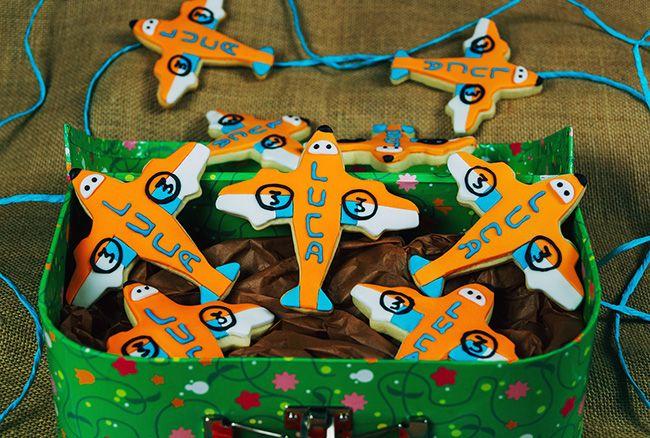 Dusty planes cookies.  Galletas decoradas con Dusty de la película Aviones de Pixar.