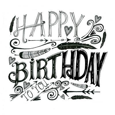 handlettering birthday - Google zoeken