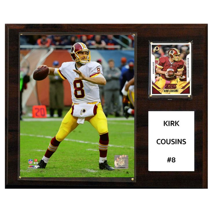 C and I Collectables NFL 15W x 12H in. Kirk Cousins Washington Redskins Player Plaque - 1215KCOUSINS
