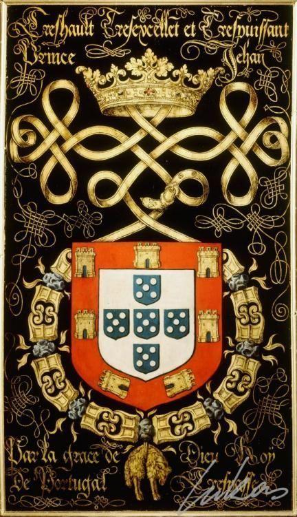 """Brasão de El-Rei D. João III de Portugal e dos Algarves (1502-1557) """"O Piedoso"""". Casa Real: Avis Editorial: Real Lidador Portugal Autor: Rui Miguel"""