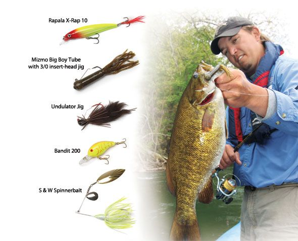 how to catch smallmouth bass in rivers
