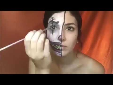 Stamatia Mavrikou - The Stitched Halloween make up - YouTube
