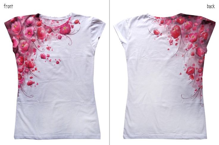 Spring flowers - Hand painted t-shirt