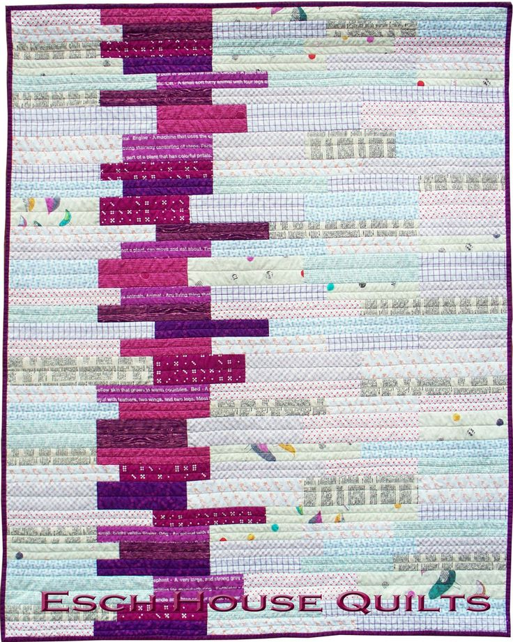 Sedimentary - Paper Quilt Pattern at Pink Castle Fabrics. Pattern by Debbie Grifka of Esch House Quilts.