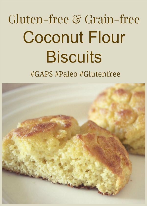 Gluten free coconut biscuit recipe - perfect for any diet! #paleo #GAPS #glutenfree
