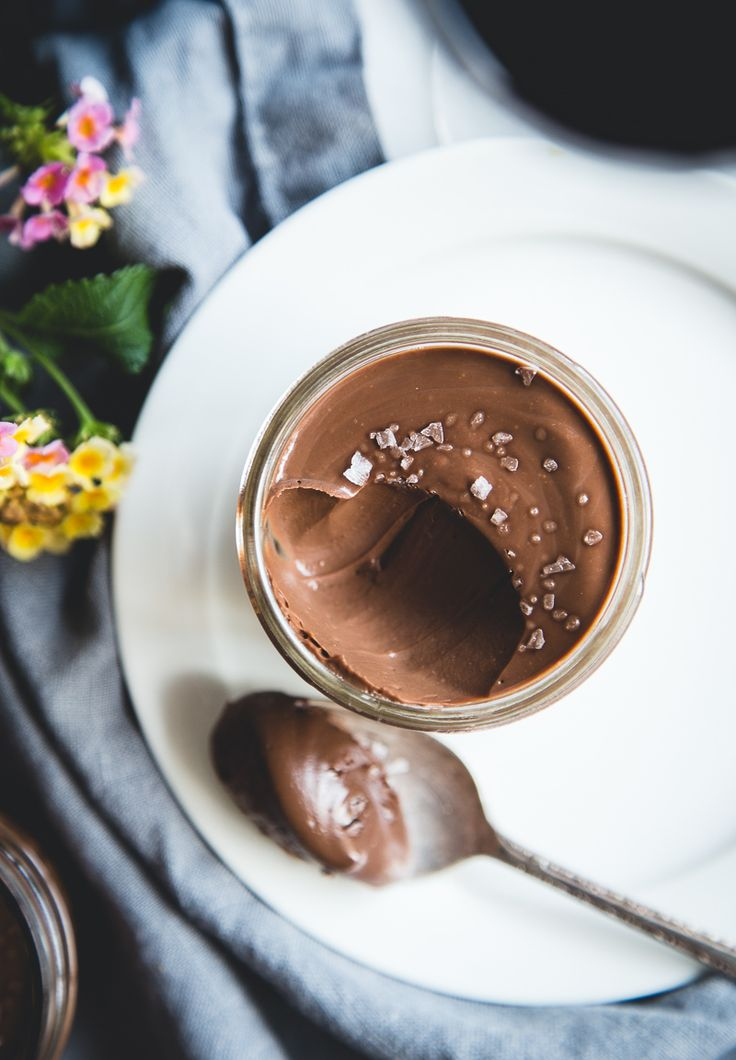 Salted Dark Chocolate Pots de Crème