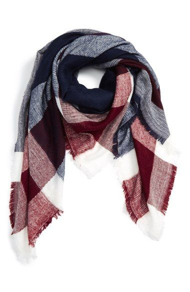 Sole Society Check Blanket Scarf available at #Nordstrom