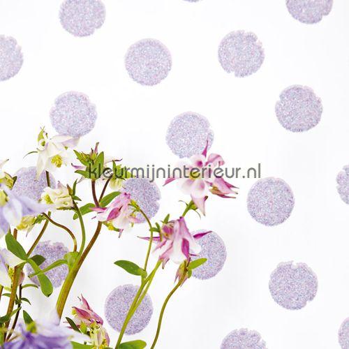 Paarse glitter stippen 359063 | behang Rice van Eijffinger | kleurmijninterieur.nl