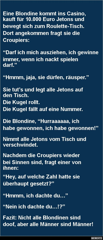 Eine Blondine kommt ins Casino   DEBESTE.de, Lustige Bilder, Sprüche, Witze und Videos