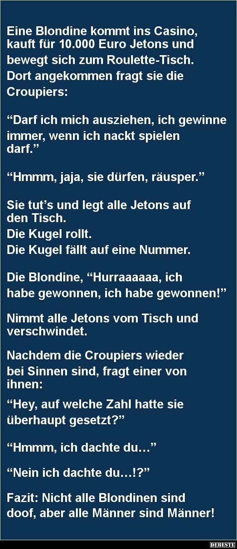 Eine Blondine kommt ins Casino | DEBESTE.de, Lustige Bilder, Sprüche, Witze und Videos