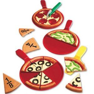 Learning Resources Smart Snacks Piece-A-Pizza Fractions: Amazon.ca: Toys & Games