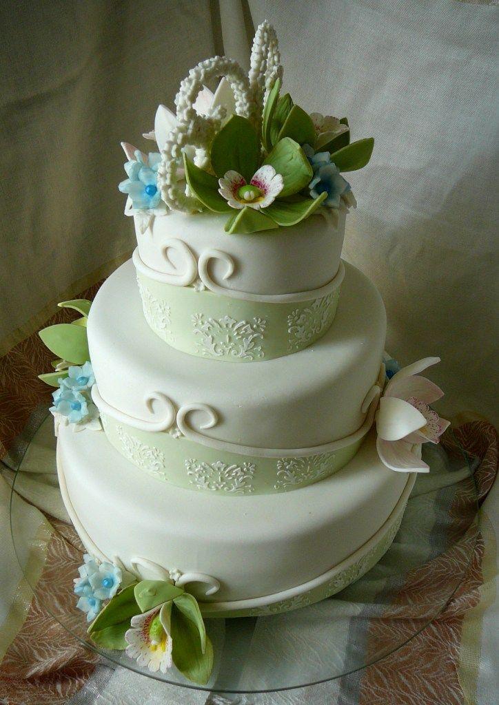 Торт Свадебные орхидеи