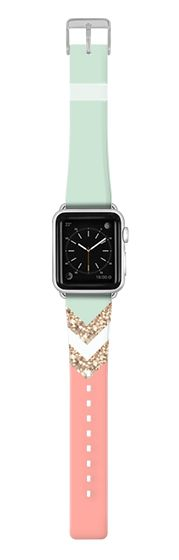 Casetify Apple Watch Band (38mm) {{case}} - CORAL & SEAFOAM by Monika Strigel APPLE WATCH STRAP by Monika Strigel #Casetify
