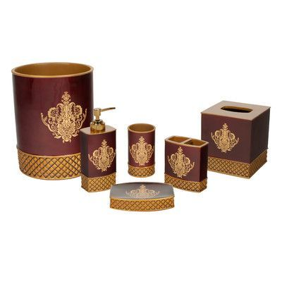 austin horn classics china art 6 piece bathroom accessory set victorian