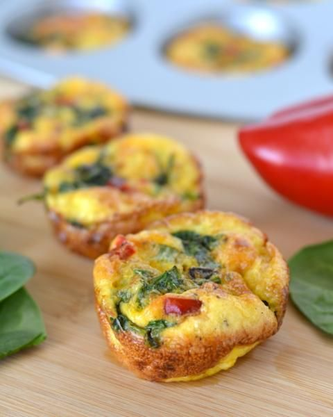 ... red pepper and scallion mini frittatas red pepper and scallion mini