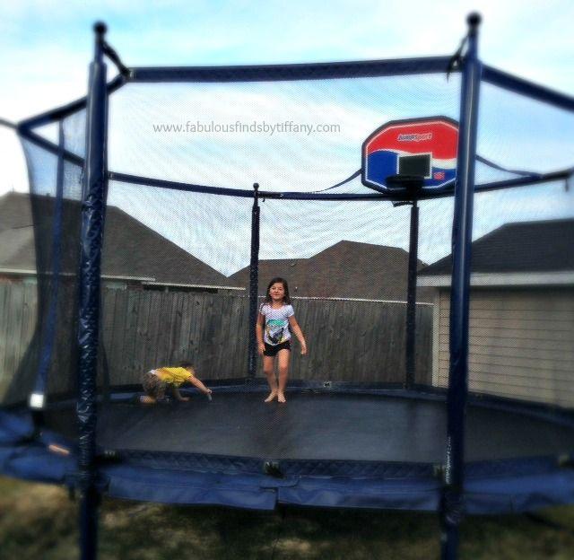 #JumpSport ProFlex Trampoline Basketball Set