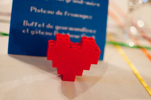 Lego heart - cute for the tables! #TKMaxxBridalEvent
