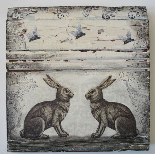 Two Rabbits and the Bees