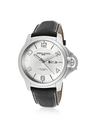 71% OFF Jorg Gray Men's JG1850-18 Black/Silver Leather Watch