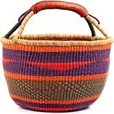 African XL Market Basket - Ghana Bolga - 16.5 Inches Across - #59360
