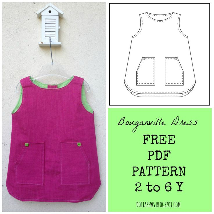 Bouganville Dress - FREE PDF SEWING PATTERN  - 2 to 6 Y