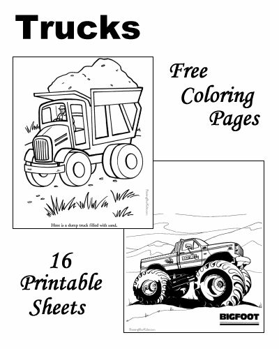truck coloring pages - Kids Coloring Activities