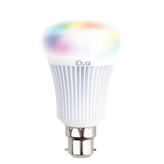 An energy efficient smart bulb that's set to light up your world in a vast array of colours. The iDual bulbs are compatible with the iDual remote allowing for total control over the colour and intensity of your light. With a bayonet cap fitting this lamp is ready to retro fit directly into your existing fitting to give you a completely new level of control and functionality. Its plug and play capability means there is no need for a hub or bridge, simply fit the lamp into your fitting and…