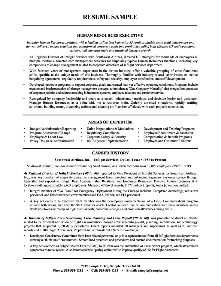 Human Resource Resume Examples  Resume Examples And Free Resume