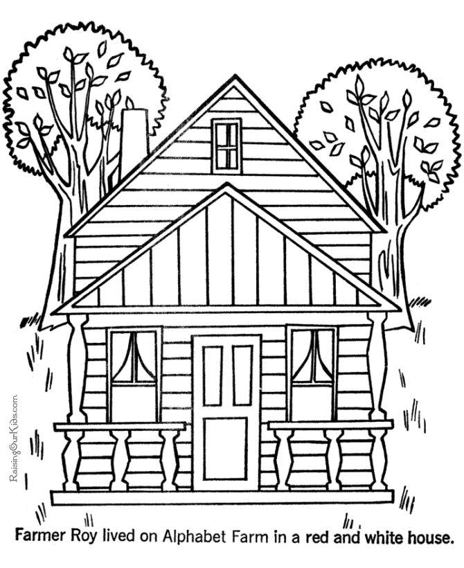 Free printable houses to print and color