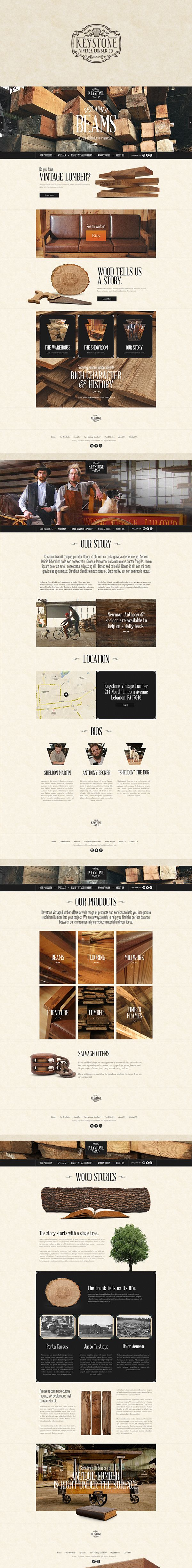 Keystone Vintage Lumber Company by Justin Freiler #website #design #digital