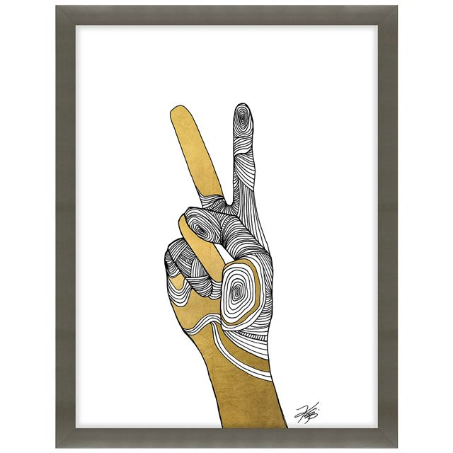 Sign Language VI Framed Wall Art LB52KE0012GFGG