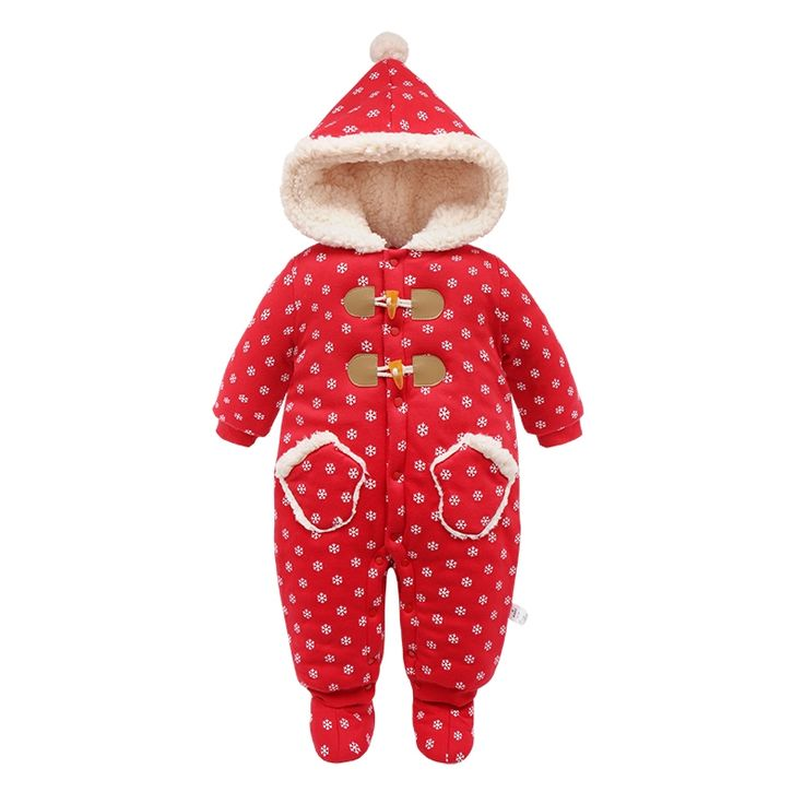 (38.98$)  Watch now - http://ai0q9.worlditems.win/all/product.php?id=32773192447 - Kids Winter Overalls For Girls Christmas 2017Newborn Clothes Infant Cartoon Baby Boys Hooded Rompers Warm Cotton Baby Snow Suits